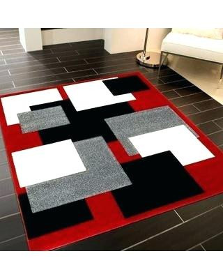 Black Rugs for Bedroom Red Black and White Rug