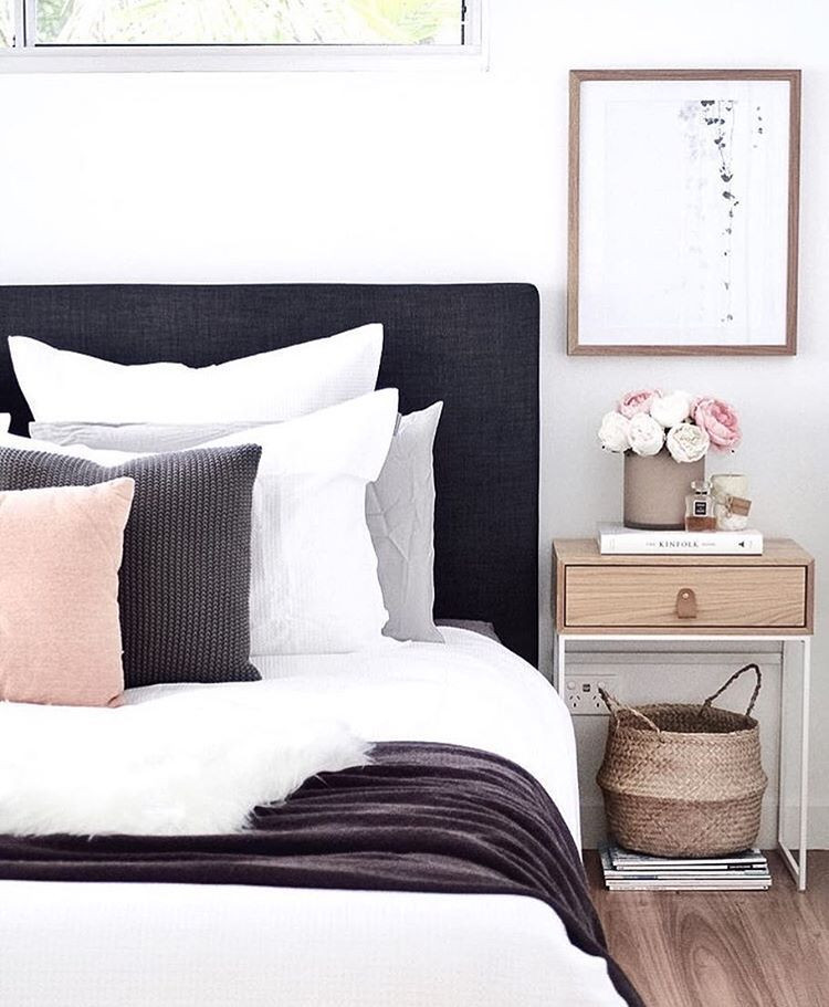 Black White and Gray Bedroom Pin On Misc