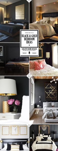 Black White Gold Bedroom 107 Best Black White and Gold Bedroom Images In 2020