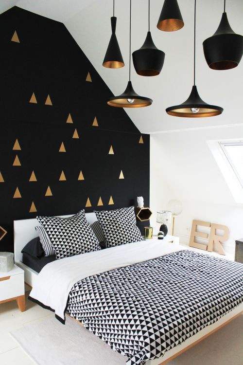 Black White Gold Bedroom Pin On Black Wall Inspiration