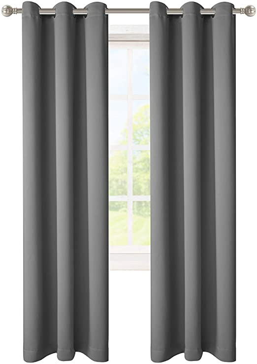 Blackout Drapes for Bedroom Lordtex Blackout Curtains for Bedroom thermal Insulated Curtains with Grommet top Room Darkening Noise Reducing Window Drapes for Living Room 2