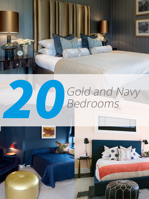 Blue and Gold Bedroom 20 Beautiful Bedroom Designs with Gold and Navy Accents