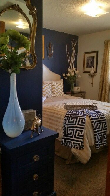 Blue and Gold Bedroom Blue and Gold
