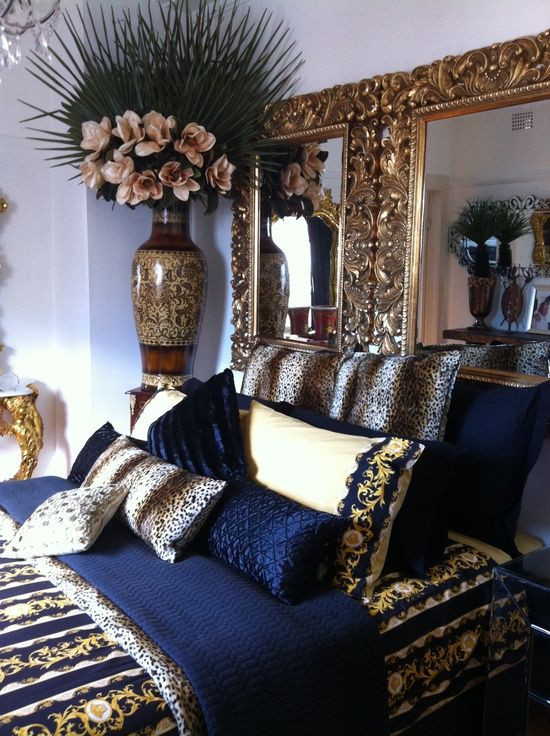 Blue and Gold Bedroom Navy Blue Gold White Bedroom