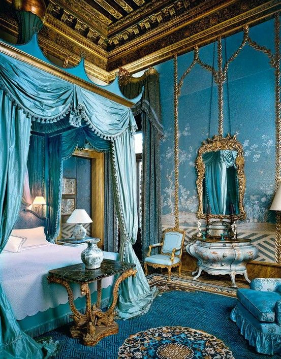 Blue and Gold Bedroom Vintage Decor Gorgeous Blue and Gold Bedroom Vintage