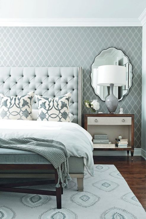 Blue and Gray Bedroom Blue and Gray Bedroom Contemporary Bedroom Chatelaine