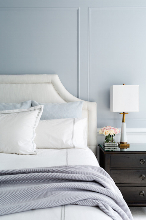 Blue and Gray Bedroom Blue and Gray Bedroom Design Transitional Bedroom