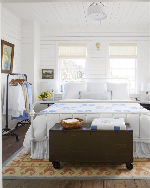 Blue and White Bedroom Decor 45 Best White Bedroom Ideas How to Decorate A White Bedroom