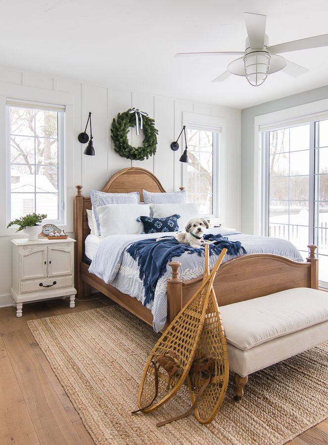 Blue and White Bedroom Decor Blue and White Christmas Bedroom Decor