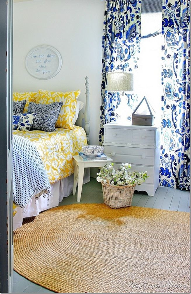 Blue and White Bedroom Decor Blue and Yellow Farmhouse Bedroom