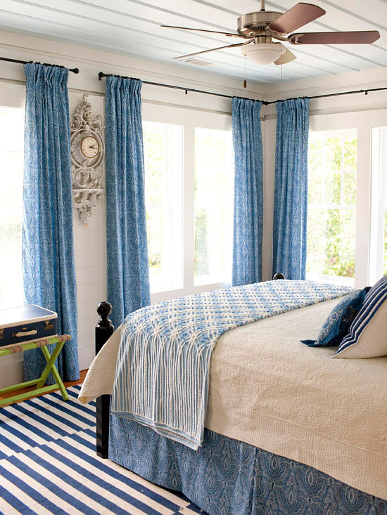 Blue and White Bedroom Decor Blue Bedroom Decorating Ideas