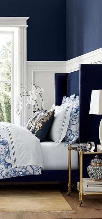 "Blue and White Bedroom Decor Luxelegantopulence ""♔"""
