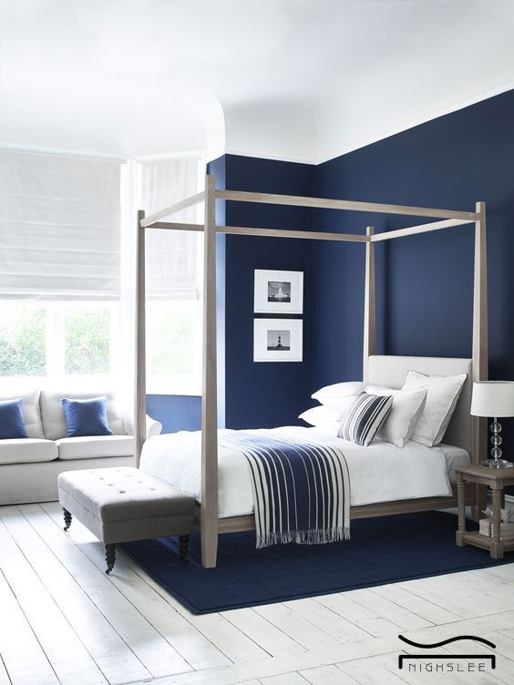 Blue and White Bedroom Ideas Blue Bedroom Idea White Blue Design Minimalist