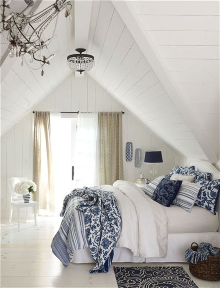 Blue and White Bedroom Ideas Furniture Bedrooms Blue and White Decor attic Bedroom