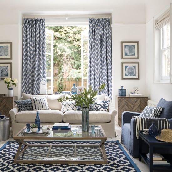 Blue Living Room Decor Ideas 44 Blue Curtain Designs Living Room Sheer Curtain Ideas
