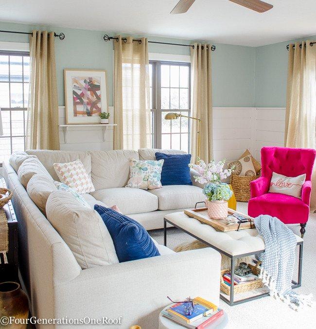 Blue Living Room Decor Ideas Blue Pink Living Room Decorating Ideas Four