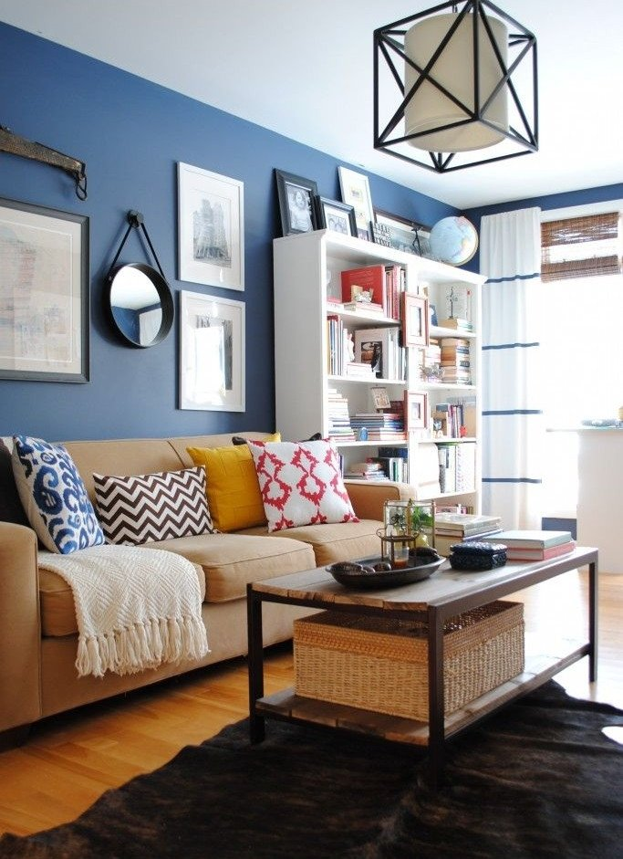 Blue Living Room Decor Ideas Unique Blue and White Living Room Design Ideas
