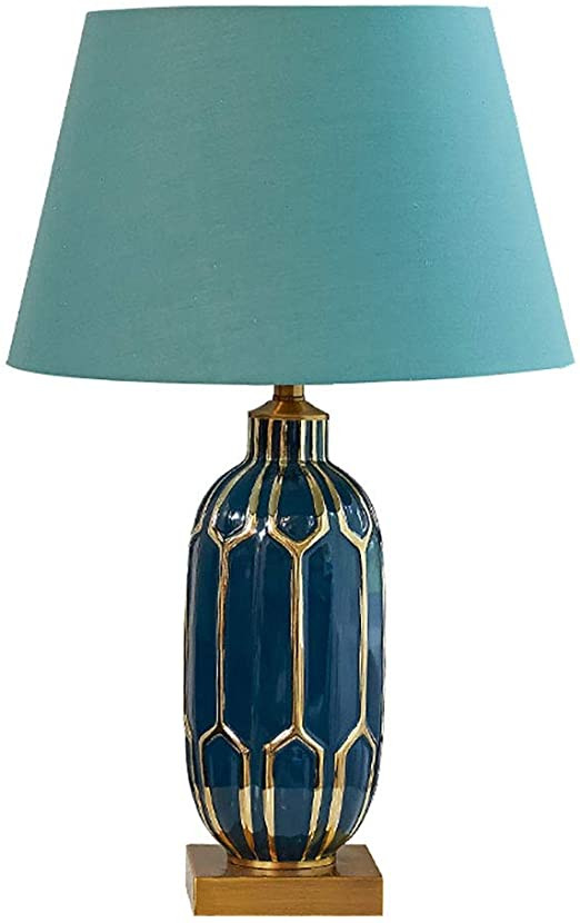 Blue Table Lamps Bedroom Amazon Chaoyang European Blue Ceramic Table Lamp