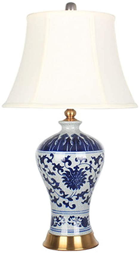 Blue Table Lamps Bedroom Blue Pattern Ceramic Table Lamp Ceramic Lamp Body Nano