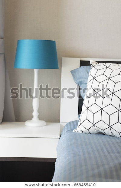 Blue Table Lamps Bedroom Blue Table Lamp Bedroom Stock Edit now