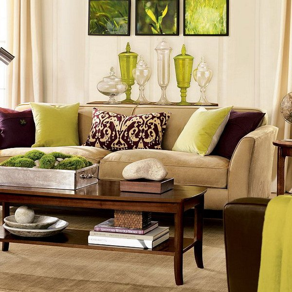 Brown Furniture Living Room Decor 28 Green and Brown Decoration Ideas