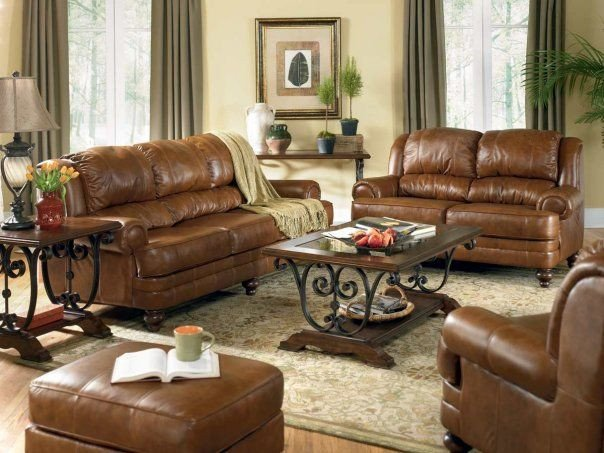 Brown Furniture Living Room Decor Brown Leather sofa Decorating Ideas
