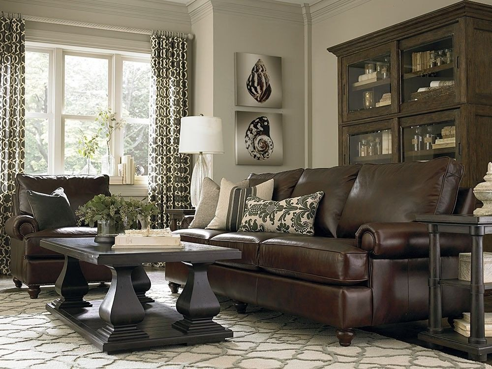 Brown Furniture Living Room Decor Dark Brown Couch with Pillows Google Search