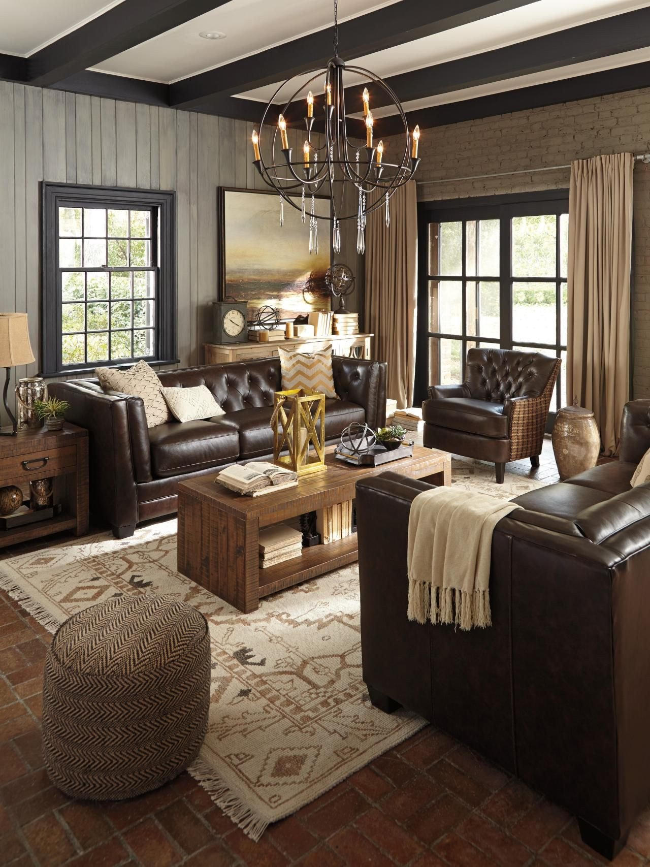Brown Furniture Living Room Decor Dark Chocolate and Cream—such A Deliciously Rich Look