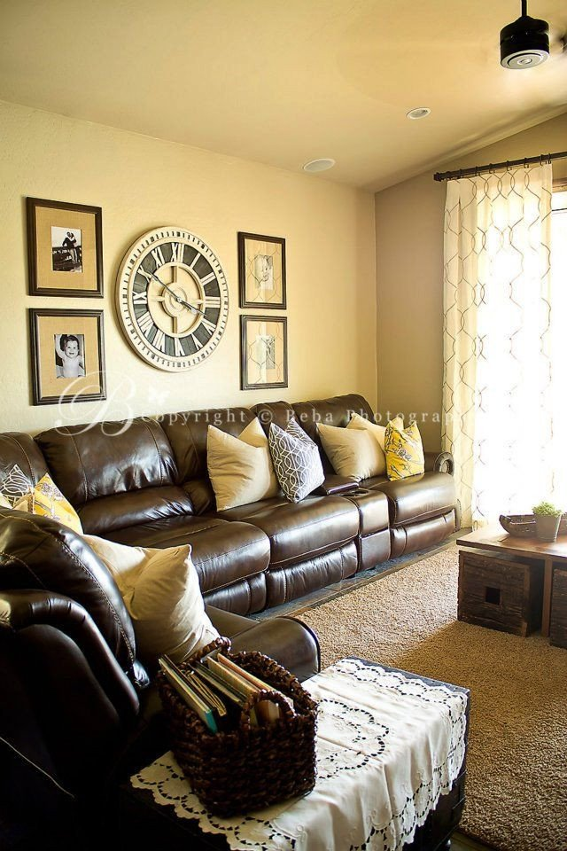 Brown Furniture Living Room Decor Family Friendly Industrial Chic