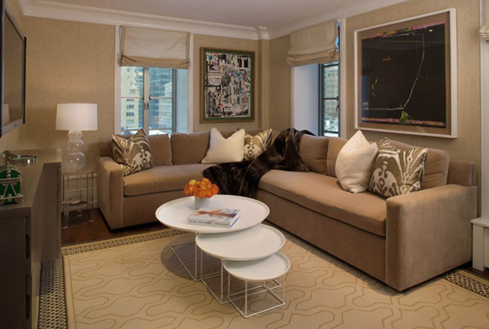 Brown Living Room Decor Ideas Airy Brown and Cream Living Room Designs Inspired From