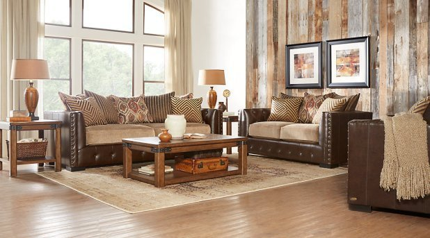 Brown Living Room Decor Ideas Beige Leather sofa Decorating Ideas