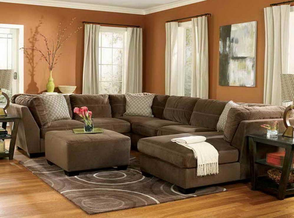 Brown Living Room Decor Ideas Brown Family Room Decorating Ideas White Rugs Under