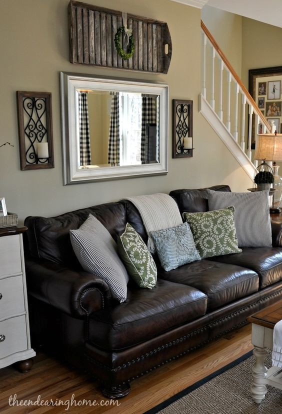 Brown Living Room Decor Ideas Brown Leather Couch Living Room Decoration Adding A