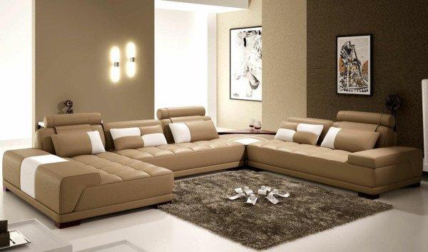 Brown Living Room Decor Ideas Ledercouch Ein Bequemes Möbelstück Im Hause Archzine