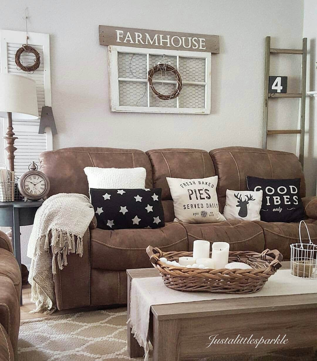Brown Living Room Decor Ideas Microfiber Couch Farmhouse Living Room Decor Ideas these
