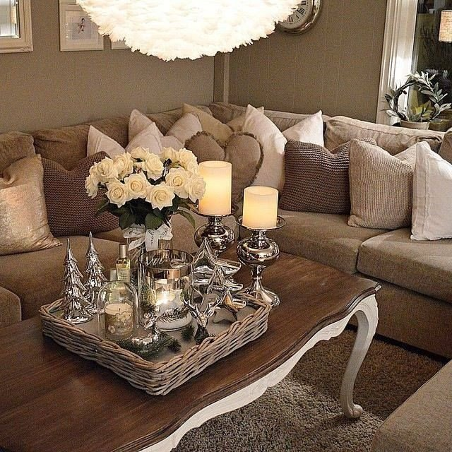 Brown Living Room Decorating Ideas Pinterest Enticemedear ♡ ♡ Posh Home In 2019