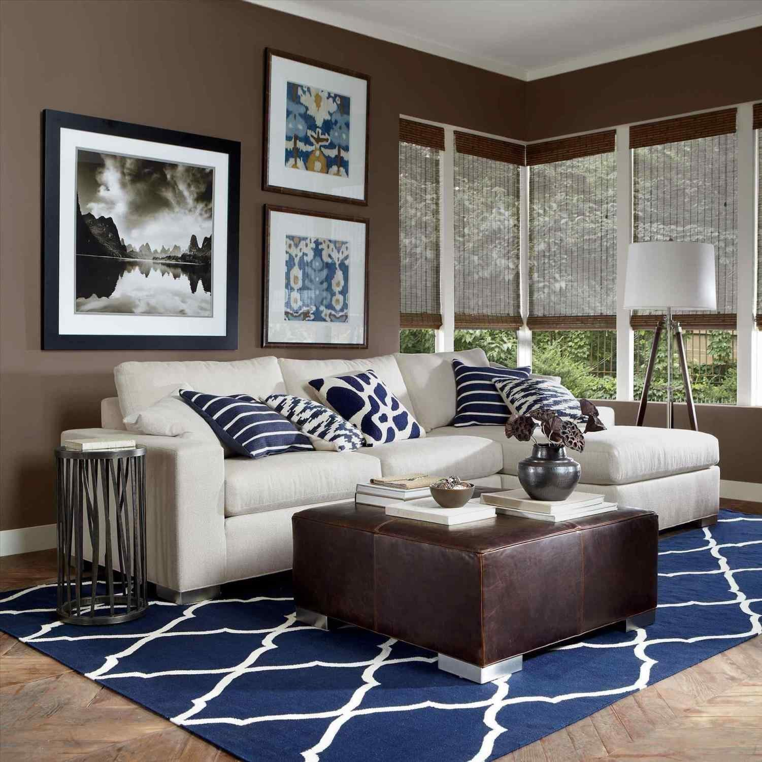 Brown Living Room Ideas 14 Incredible Navy Blue and Cream Living Room Ideas