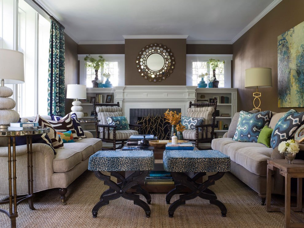 Brown Living Room Ideas 20 Blue and Brown Living Room Designs Decorating Ideas