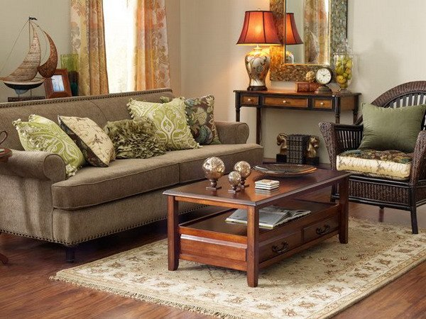 Brown Living Room Ideas the Summer Palette Choices Of Green and Brown for All