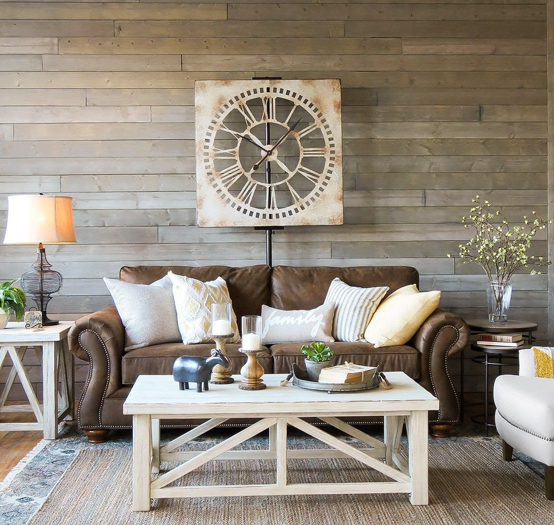 Brown sofa Living Room Decor A Farmhouse Living Room that Will Make You Want A Brown