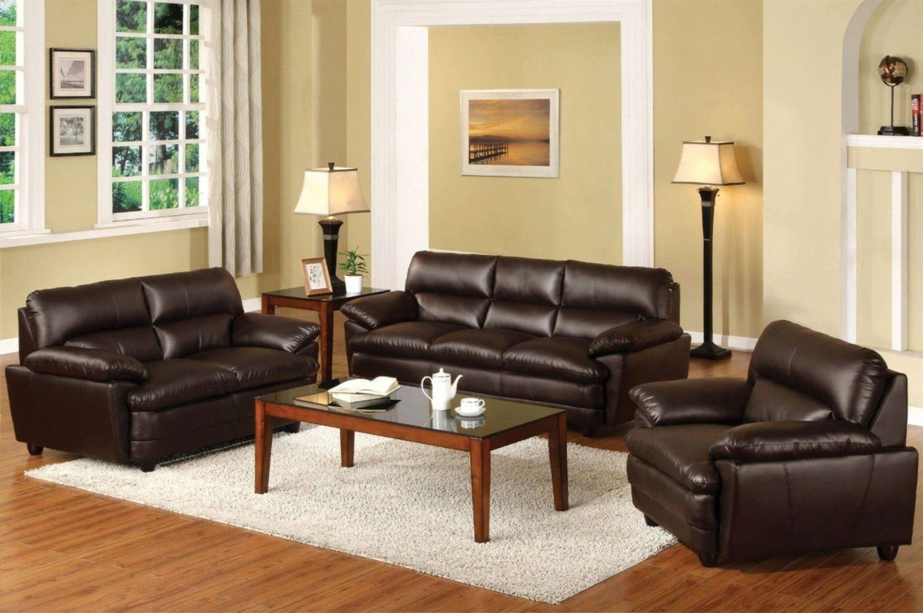 Brown sofa Living Room Decor Elegant Brown Couch Blue Rug Innovative Rugs Design