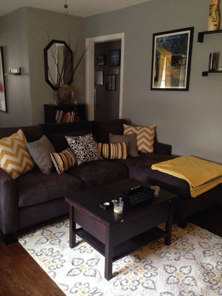 Brown sofa Living Room Decor Furniture Ideas for An Elegant and Refined Living Room