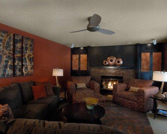 Burnt orange Living Room Decor Burnt orange and Brown Living Room