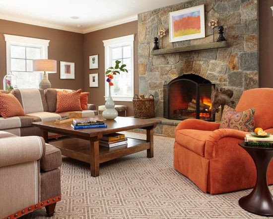 Burnt orange Living Room Decor Burnt orange Decorating Ideas
