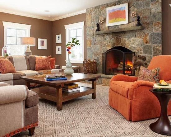 Burnt orange Living Room Decor Burnt orange Decorating Ideas