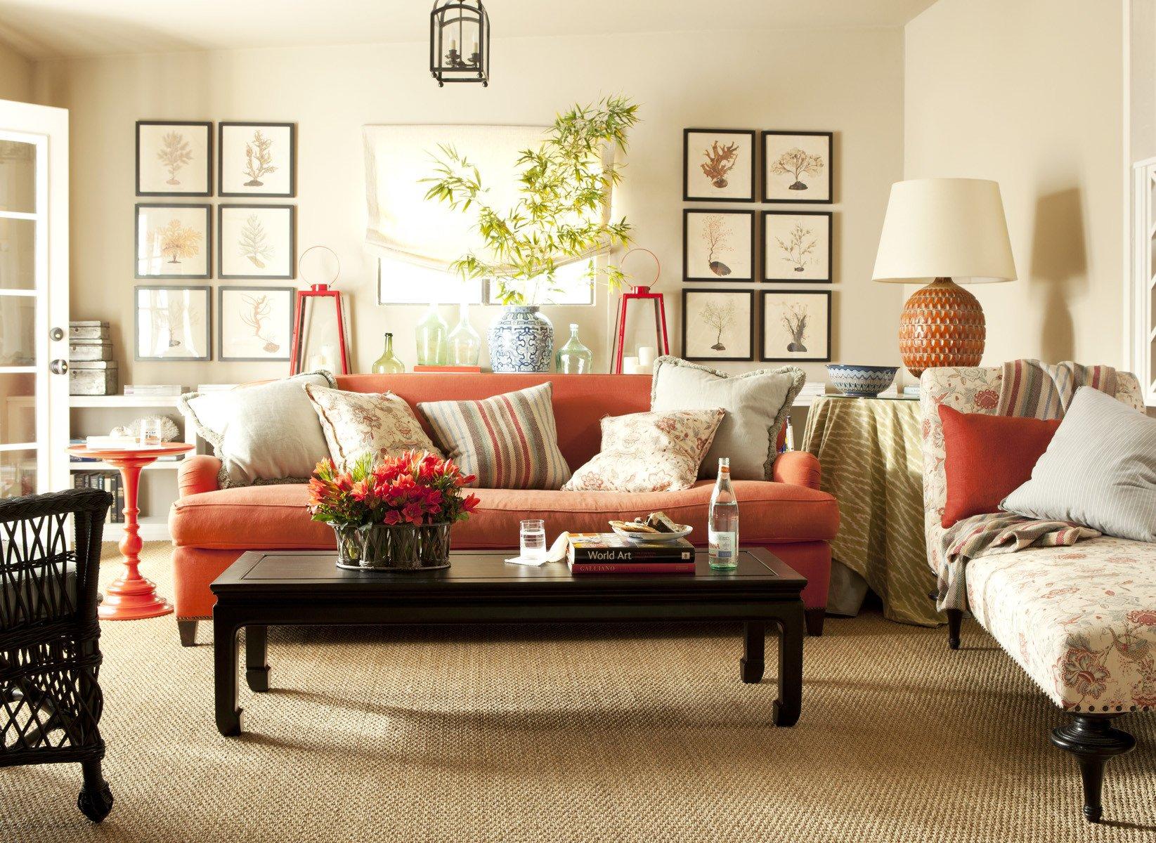 Burnt orange Living Room Decor orange Walls Living Room Designs Curtains Bright orange