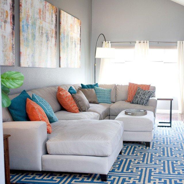 Casual Contemporary Living Room Casual Contemporary