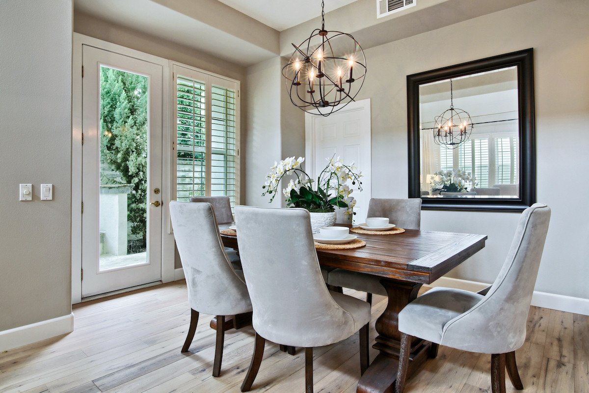 Casual Contemporary Living Room Casual Contemporary Style Home Staging Design by White