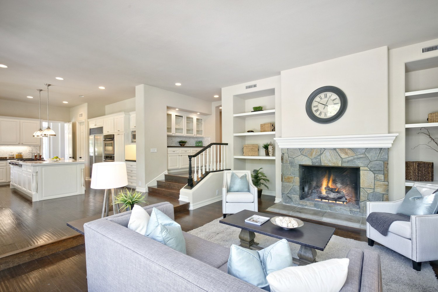 Casual Contemporary Living Room Living Rooms White orchid Interiors