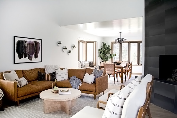 Casual Contemporary Living Room Modern Casual Living and Dining Room E Room